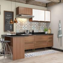 Armário de Cozinha Completo 6pc 2,58m Calábria 5455 Multimóveis -