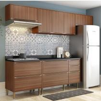 Armário de Cozinha Completo 6pc 2,60m Calábria 5456 Multimóveis -