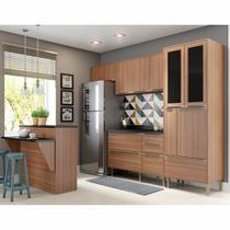 Armário de Cozinha Completo 6pc 2,60m Calábria 5463 Multimóveis -