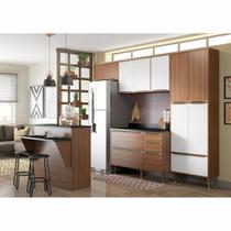 Armário de Cozinha Completo 6pc 2,60m Calábria 5464 Multimóveis -