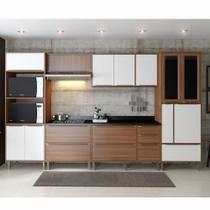 Armário de Cozinha Completo 7pc 3,30m Calábria 5450 Multimóveis -
