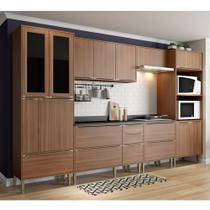 Armário de Cozinha Completo 7pc 3,30m Calábria 5451 Multimóveis -