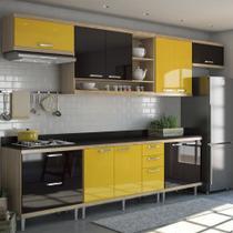 Armário de Cozinha Completo 8 peças 3,30m 5801 Linha Sicília Multimóveis -
