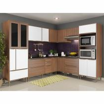 Armário de Cozinha Completo 9pc 276,50cm Calábria 5461 Multimóveis -