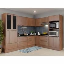 Armário de Cozinha Completo com Rodapé 14pc Calábria 5461R Multimóveis -