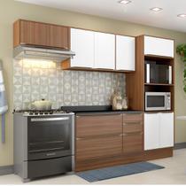 Armário de Cozinha Completo com Rodapé 7pc 2,60m Calábria 5457R Multimóveis -