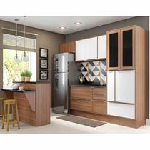 Armário de Cozinha Completo com Rodapé 8pc 2,60m Calábria 5463R Multimóveis -