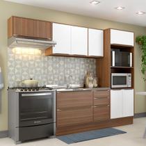 Armário de Cozinha Completo com Rodapé sem Tampa 6pc 2,60m Calábria 5457R Multimóveis -