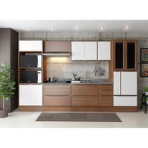 Armário de Cozinha Completo com Rodapé sem Tampo 10pc 3,30m Calábria 5450R Multimóveis -