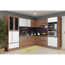 Armário de Cozinha Completo com Rodapé sem Tampo 13pc Calábria 5461R Multimóveis -