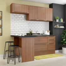 Armário de Cozinha Completo com Rodapé sem Tampo 5pc 1,90m Calábria 5460R Multimóveis -