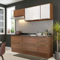 Armário de Cozinha Completo com Rodapé sem Tampo 6pc 1,90m Calábria 5459R Multimóveis -
