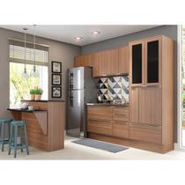Armário de Cozinha Completo com Rodapé sem Tampo 7pc 2,60m Calábria 5463R Multimóveis -