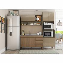 Armário de Cozinha Completo Milena 1,85m 0323 Soluzione Móveis -