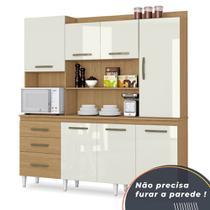 Armário de Cozinha Completo Mirela Atacama/Off White - Aramóveis