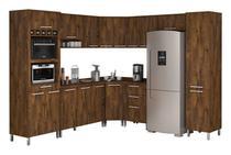 Armário de Cozinha Completo Ravena Malbec - Vitamov -