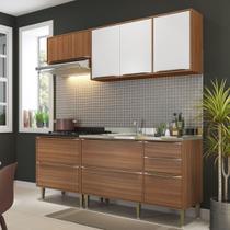 Armário de Cozinha Completo sem Tampo 4pc 1,90m Calábria 5459 Multimóveis -