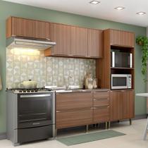 Armário de Cozinha Completo sem Tampo 4pc 2,60m Calábria 5457 Multimóveis -