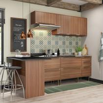Armário de Cozinha Completo sem Tampo 5pc 2,58m Calábria 5455 Multimóveis -