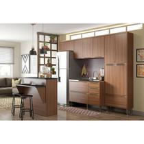 Armário de Cozinha Completo sem Tampo 5pc 2,60m Calábria 5464 Multimóveis -