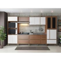 Armário de Cozinha Completo sem Tampo 6pc 3,30m Calábria 5450 Multimóveis -