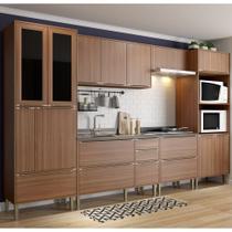 Armário de Cozinha Completo sem Tampo 6pc 3,30m Calábria 5451 Multimóveis -