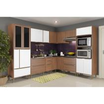 Armário de Cozinha Completo sem Tampo 8pc 276,50cm Calábria 5461 Multimóveis -