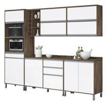 Armário de Cozinha Completo Turquesa Castanho com Branco - Vitamov -