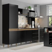 Armário de Cozinha Completo Vitoria 2,15m 0318 Soluzione Móveis -