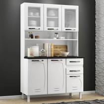 Armário de Cozinha de Aço Kit Triplo Telasul Pérola Branco -