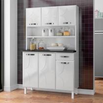 Armário de Cozinha de Aço Kit Triplo Telasul Rubi Smart Branco -
