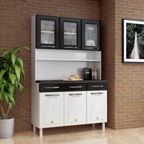 Armário de Cozinha de Aço Kit Triplo Telasul Star New Branco/Preto -