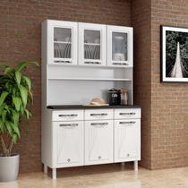 Armário de Cozinha de Aço Kit Triplo Telasul Star New Branco -