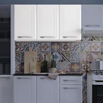 Armário de Cozinha em Aço Aéreo Triplo Topázio Telasul Branco -