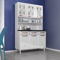 Armário de Cozinha em Aço Triplo 6 Portas 3 Gavetas Mirage New Telasul Branco -