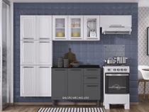 Armário de Cozinha Itatiaia Luce - 10 Portas - Branco -