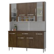 Armário de Cozinha Kit Cancun 8 Portas Branco Malbec - Incorplac -