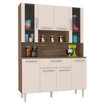 Armário de Cozinha Kit Cancun 8 Portas Teka Champanhe - Incorplac -