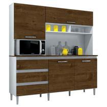Armário de Cozinha Kit Florença 4 Portas Branco Malbec - Incorplac -