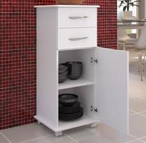 Armário De Cozinha Multiuso Branco 2 Gavetas 1 Porta - Magazine Rm