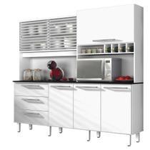 Armário De Cozinha Zanzini Mega 6 Portas 3 Gavetas Branco - Zanzini móveis
