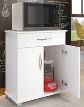 Armário Dispensa De Cozinha Multiuso Bancada Com Rodas - Clickforte
