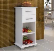 Armário Fruteira Cozinha Multiuso Branco Base Bebedouro - Clickforte