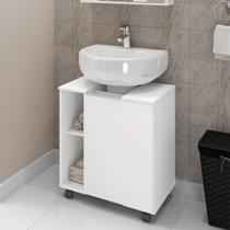 Armário Gabinete Para Banheiro Móveis Bechara Pequin 1 Porta Branco -