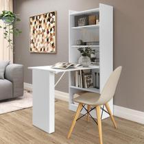Armário multifuncional/multiuso com prateleiras e mesa retrátil com organizador Multimóveis -