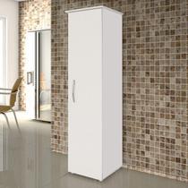 Armário Multiuso 1 Porta Jasmim Kaiki Móveis Branco -