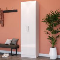Armário Multiuso 2 Portas 4 Prateleiras Branco - Móveis doripel ltda
