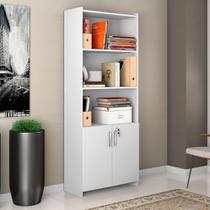 Armário Multiuso 2 Portas Para Escritório Office Notável Móveis Branco -