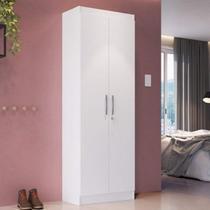 Armário Multiuso com Chave 2 Portas 5 Prateleiras Doha 9595 Móveis Doripel Branco -
