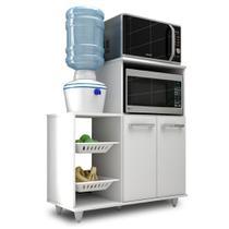 Armário Multiuso com Fruteira e Nicho Micro-ondas 2 Portas Munique Branco - Mpozenato - Mpozenato - Lm